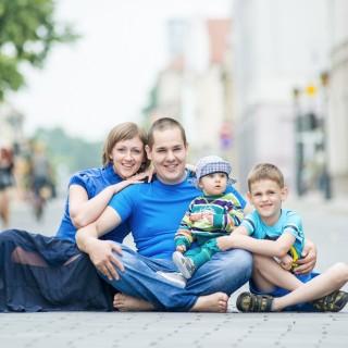 Šeimos fotosesija mieste
